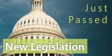 New legislation just passed